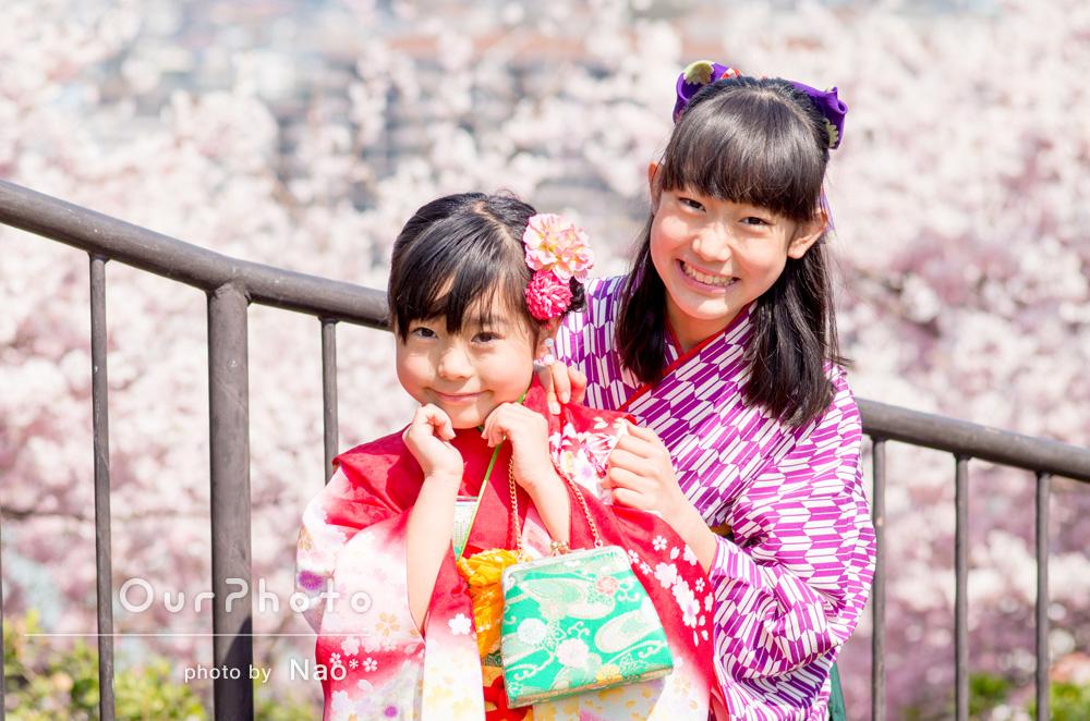 桜の季節に前撮りも[七五三写真]