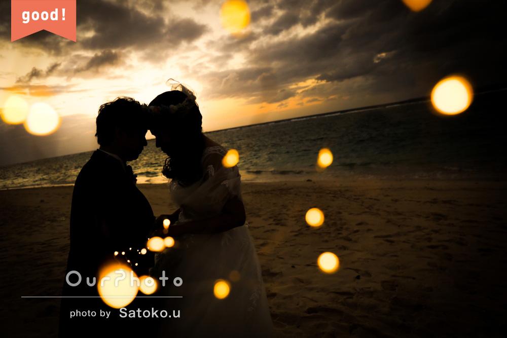 フォトギャラリー 「とにかくとても良かった」沖縄のサンセットビーチでウェディングフォト