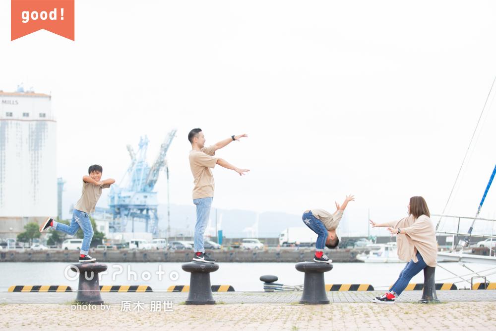 フォトギャラリー「10歳の1/2成人式に家族写真」の撮影