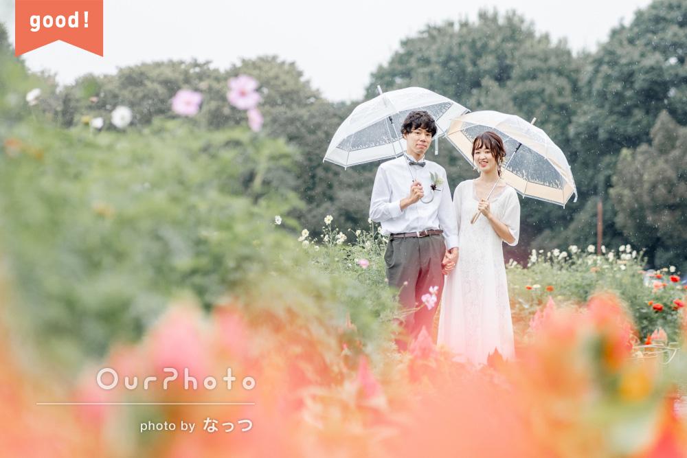 フォトギャラリー「雨の中のカップルフォト」