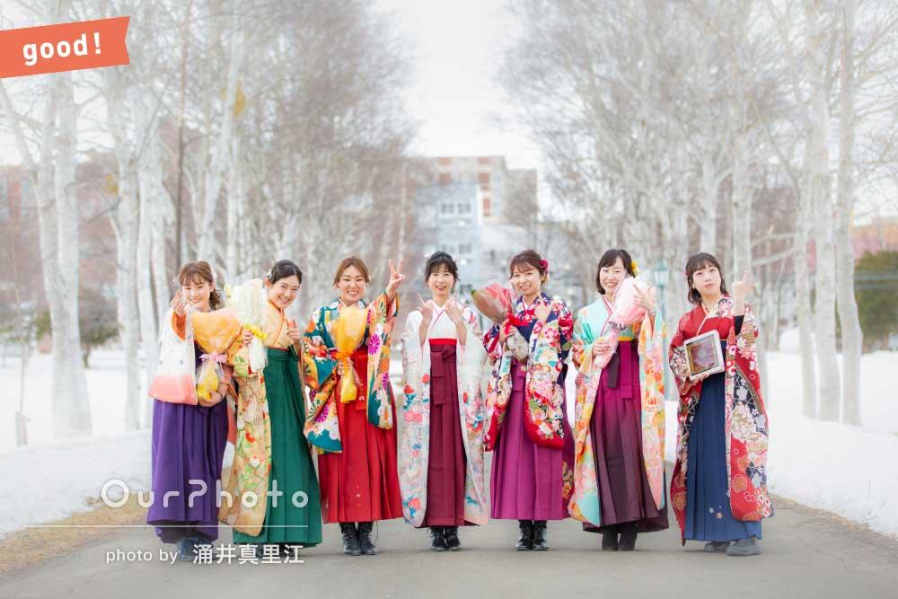 フォトギャラリー「「いろいろな場所で撮影していただき」卒業式に袴姿で友フォトの撮影」の撮影