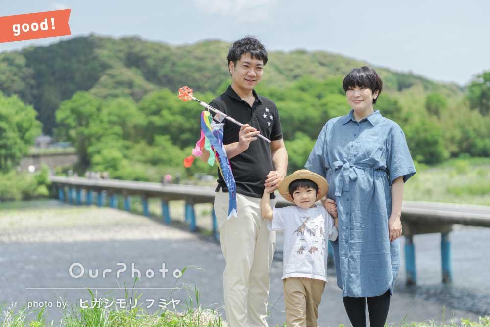 フォトギャラリー「「焦ることなく撮影できた」緑豊かな自然を背景に家族写真の撮影」の撮影
