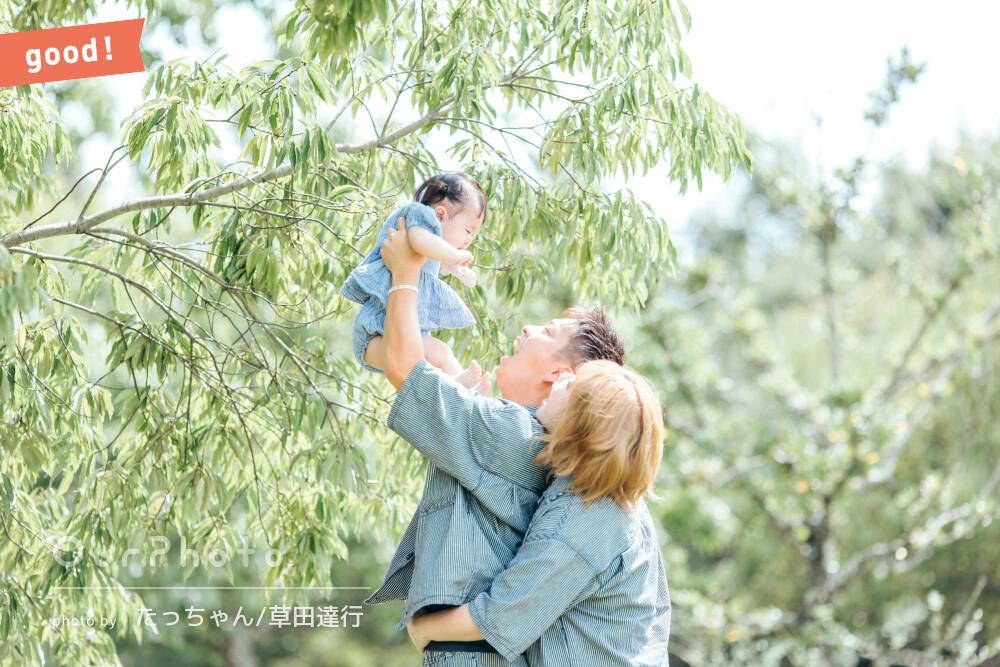 フォトギャラリー「一生の思い出ができました」リンクコーデで仲睦まじい家族写真の撮影