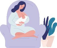 授乳をしているママ