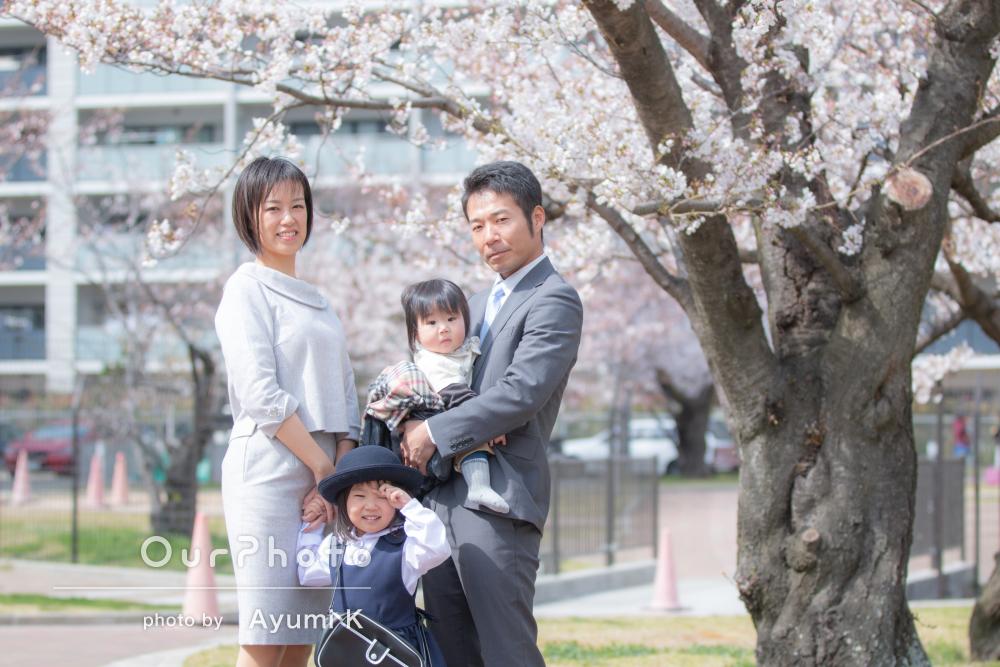 桜_入園記念_家族