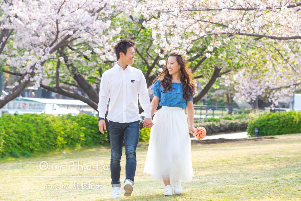 桜_カジュアル洋装前撮り