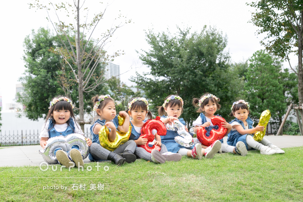 春友フォト_3歳の誕生日祝い