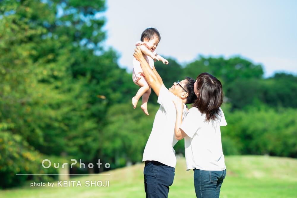 「娘の貴重な笑った瞬間を撮ってくださり嬉しかったです」家族写真の撮影
