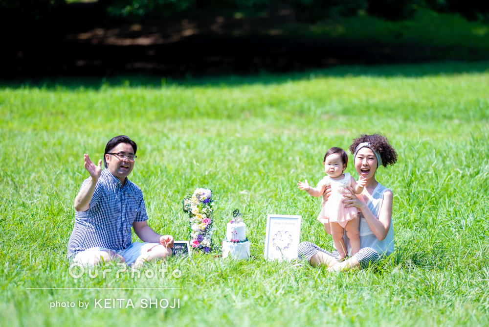 「作った小物達との写真も綺麗に」普段の家族風景も記念に!家族写真撮影