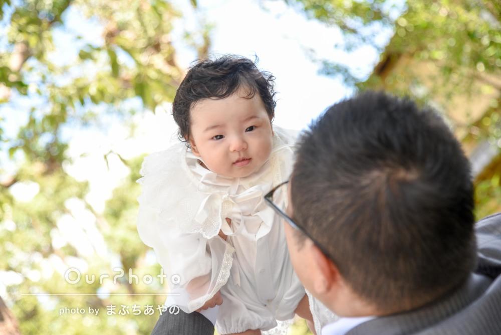 「子供の扱いがとても上手」泣いた姿も愛らしいお宮参りの撮影