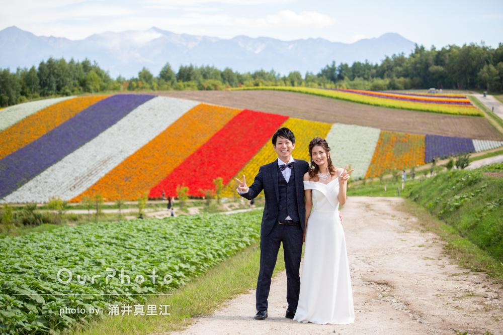 「2人にとって一生の思い出に」北海道の圧巻の景色でウェディングフォト