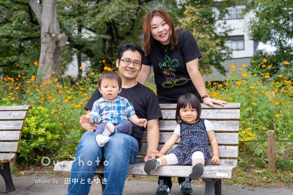 「子供の最高の笑顔を写真に残せました」温かさ溢れる家族写真の撮影