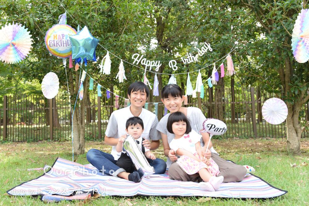 「最高の瞬間を逃さず」1歳のバースデーお祝いに家族写真の撮影