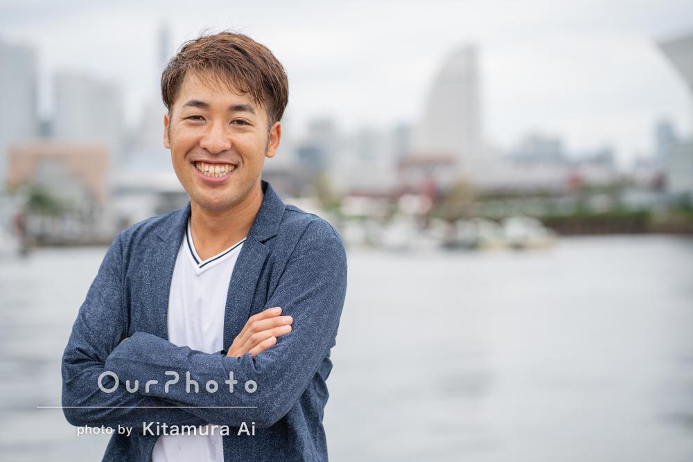 爽やかな笑顔から人柄が感じ取れる素敵なプロフィール写真の撮影