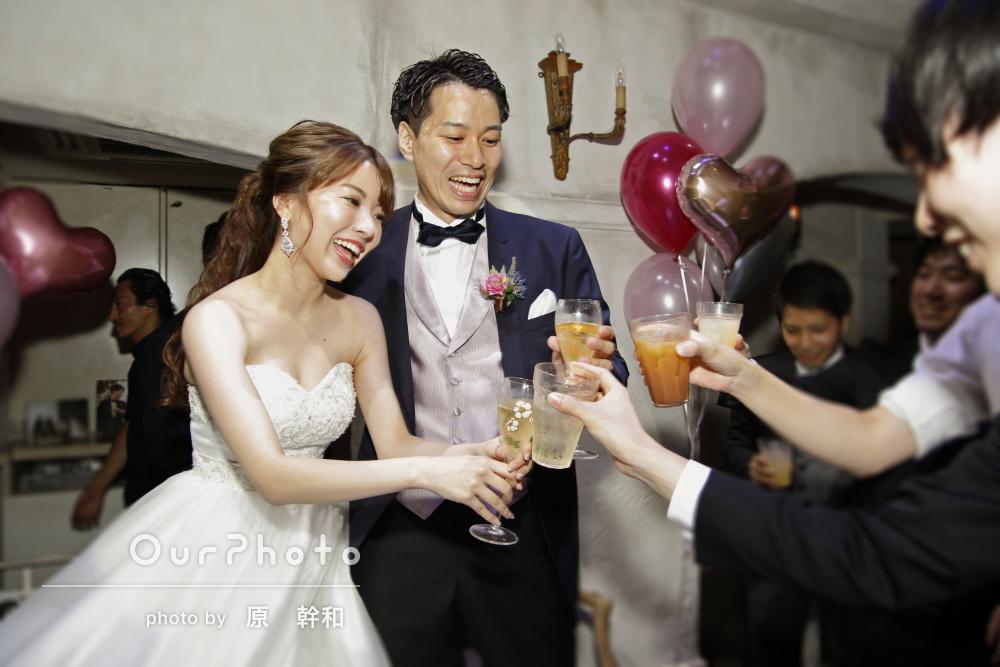 笑顔で楽しさ伝わる結婚式二次会写真の撮影