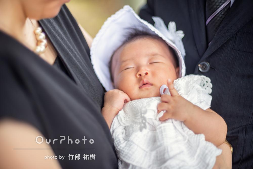 「雨を感じさせない素敵な写真ばかり」3世代でお宮参りの記念撮影