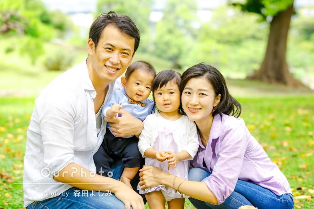 「普段の様子が写真に納められて嬉しかった」景観が素敵な家族写真の撮影