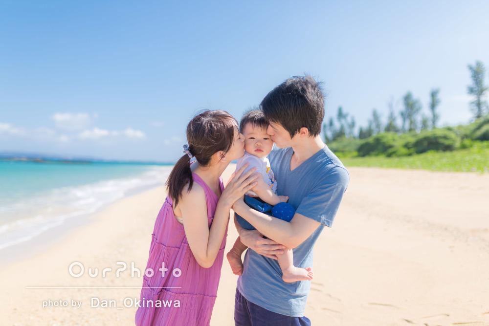 生後300日記念に家族旅行!沖縄での家族写真の撮影
