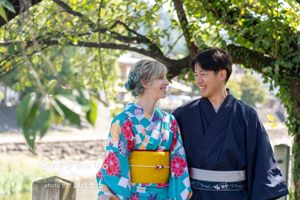 「いろいろとアドバイスや指示をいただいた」和装でカップル旅行の撮影