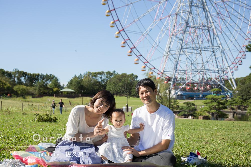 「一瞬の表情も見逃さないショット」可愛い笑顔満載な家族写真の撮影
