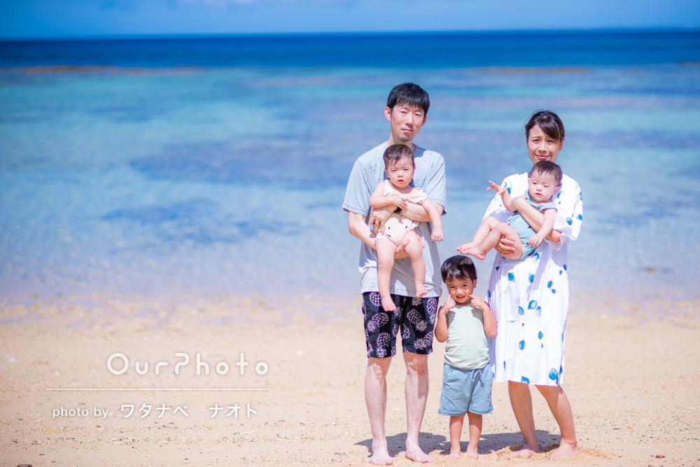 「笑顔の写真が撮れていたので嬉しかった」沖縄のビーチで家族写真の撮影
