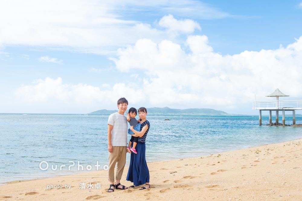 「明るく家族の笑顔が映える写真に満足」沖縄石垣島にて家族写真の撮影