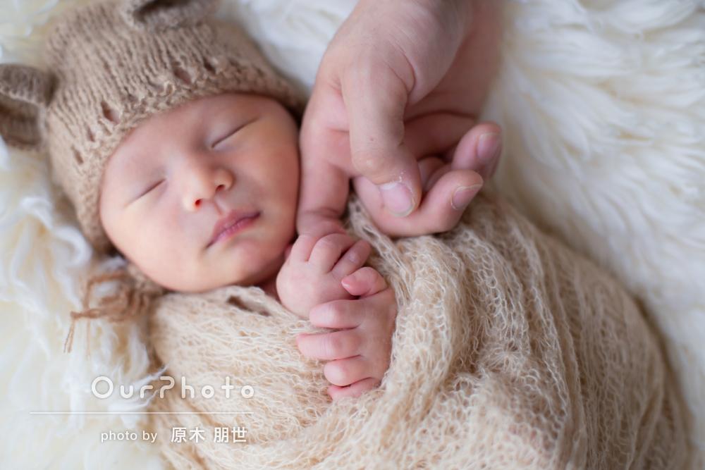 「テキパキと素早く」赤ちゃんに負担のないニューボーンフォトの撮影