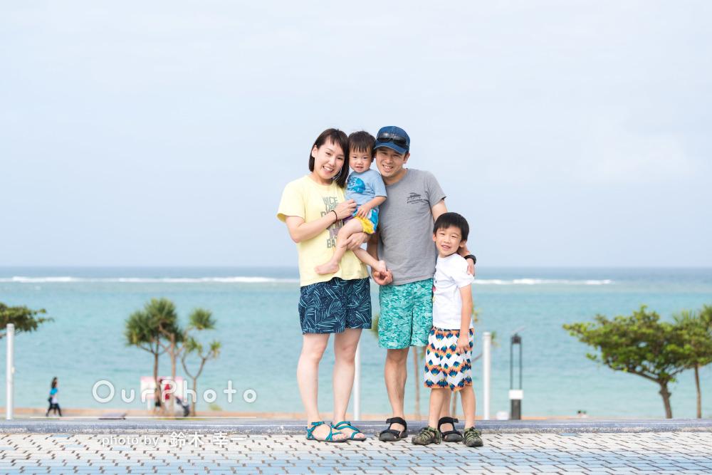 「いつでも思い出すことができて嬉しいです」沖縄旅行にて家族写真の撮影