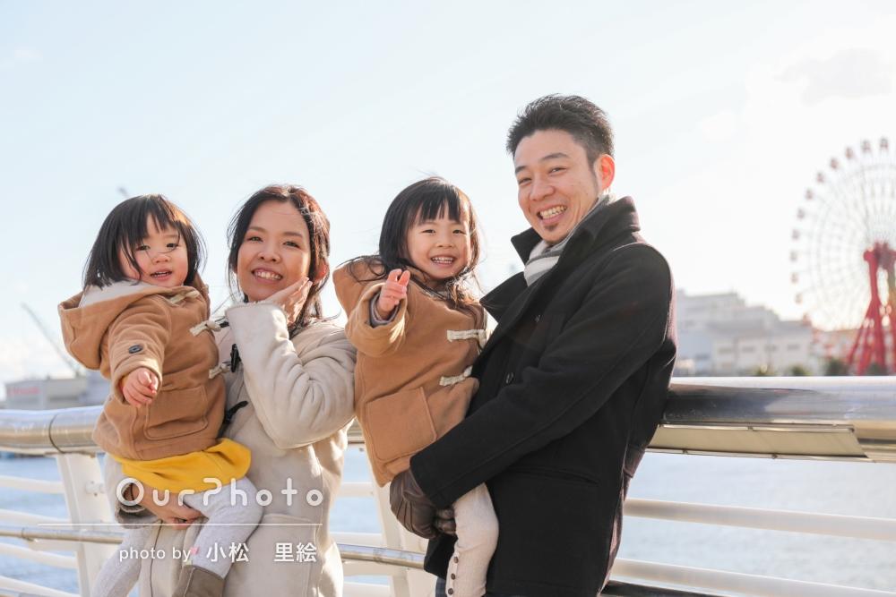 元気いっぱいな子どもたちの「自然な動きのある」家族写真の撮影