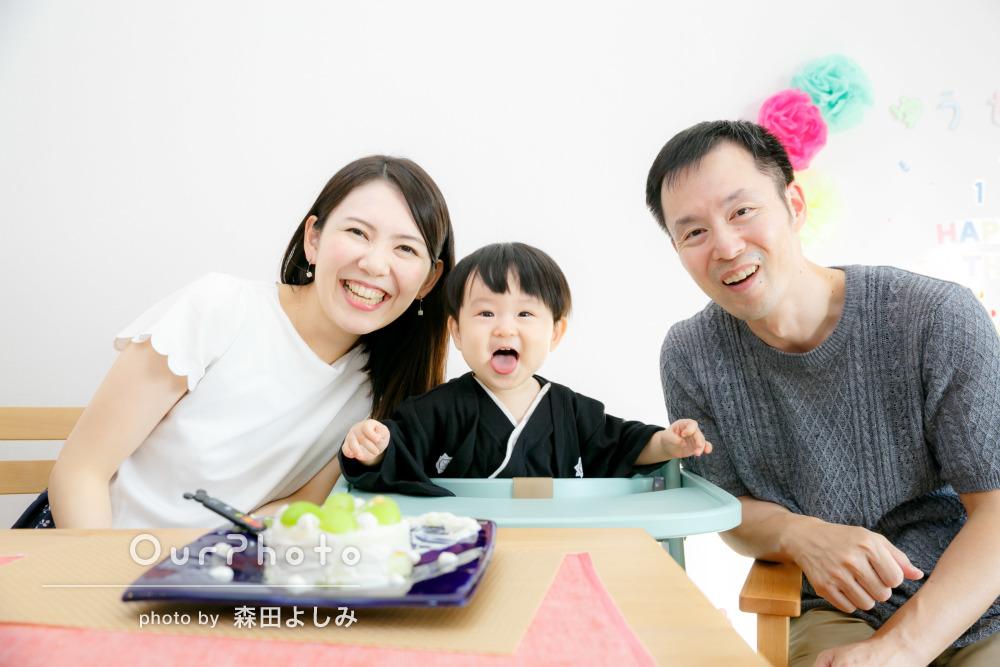 穏やかな笑顔に包まれて迎えた1歳の誕生日の出張撮影