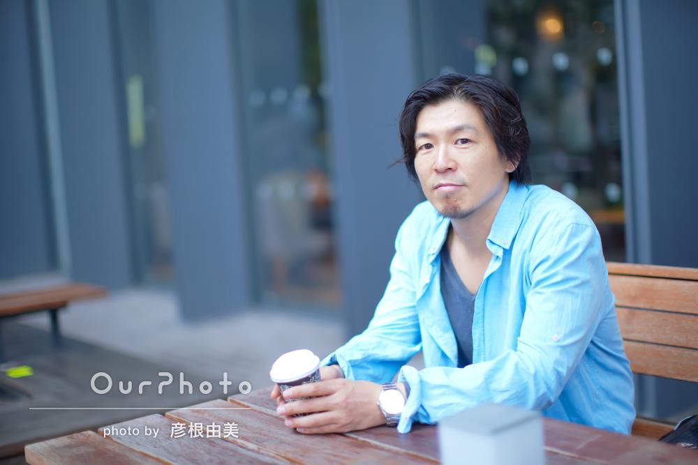 「アドバイスも全てよかった」街中での男性プロフィール写真の撮影