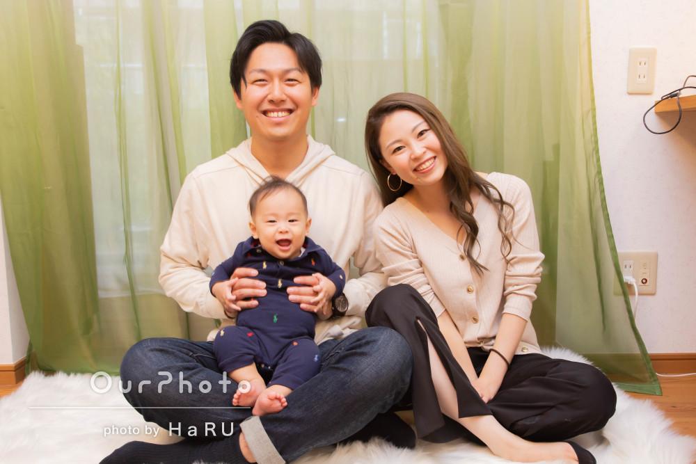 「良い思い出になります」ハーフバースデーの記念に!家族写真の撮影
