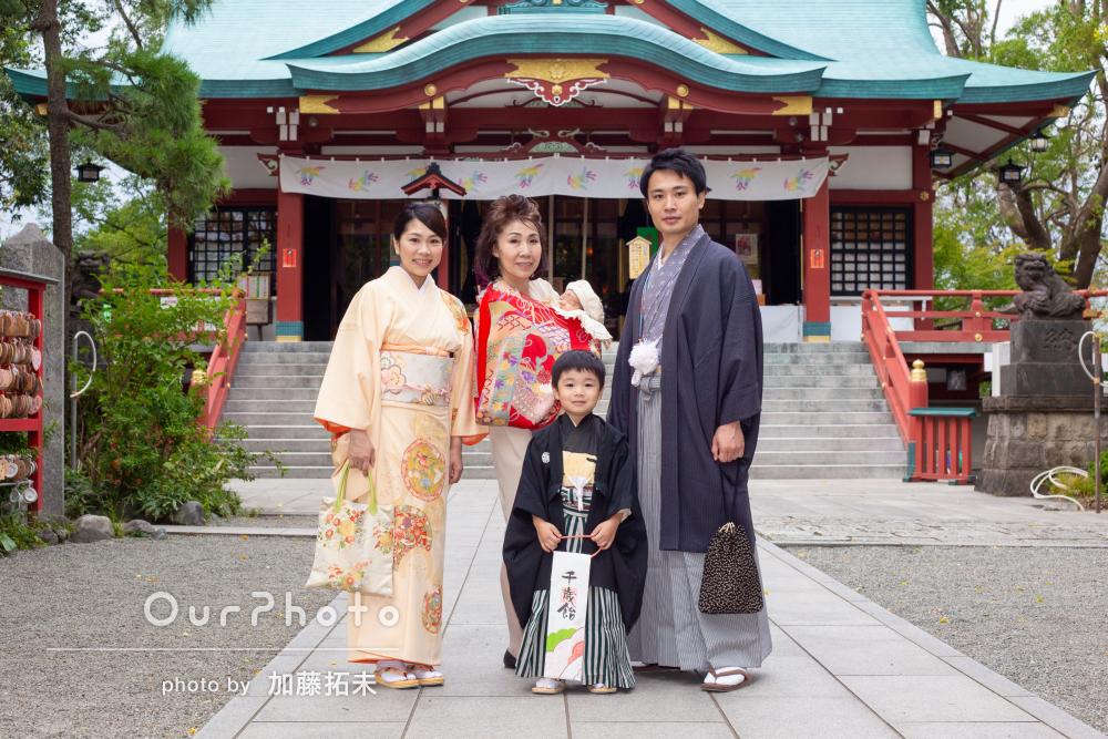 家族みんなで和装でおめかし!七五三とお宮参りの撮影