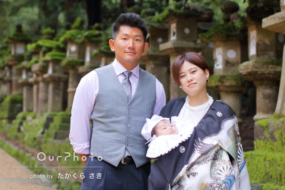 「素敵に撮っていただき大変満足しています」神社でお宮参り写真の撮影