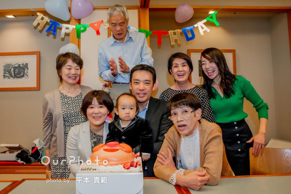 「素敵な写真をたくさんありがとう」豪華な誕生日会!家族写真の撮影