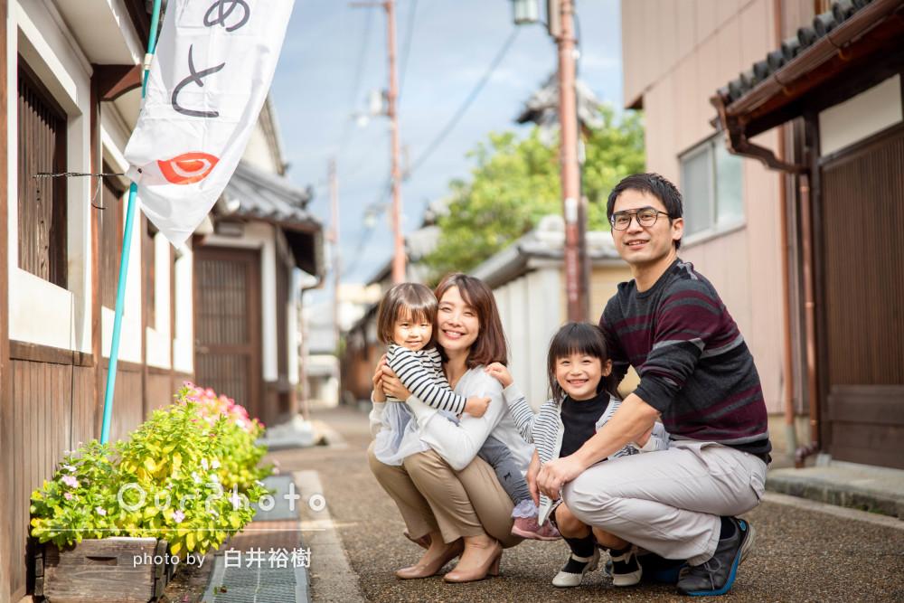 「どの写真も表情豊かに素敵に撮っていただき大満足」家族写真の撮影