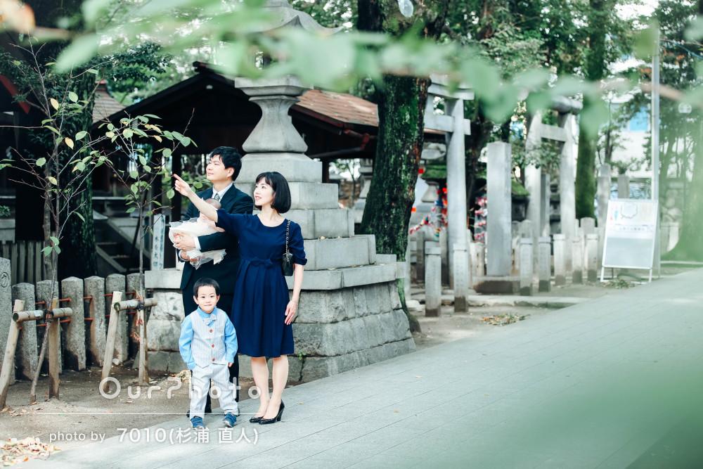 「撮影背景やポーズの提案も」七五三とお宮参りで家族写真の撮影