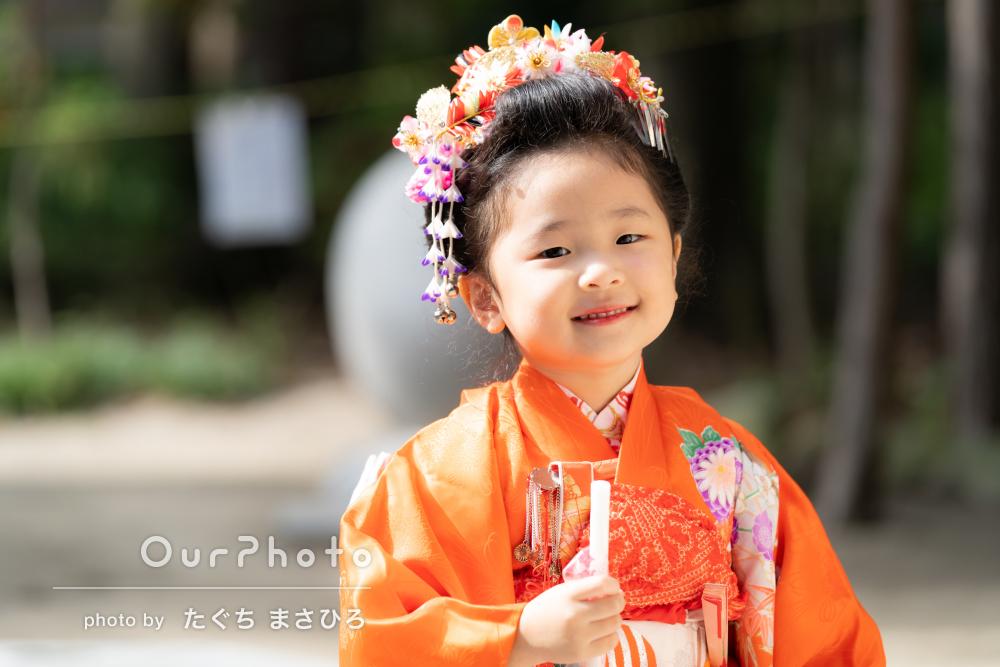 三歳の日本髪がかわいい!「ゆっくり撮ってもらえた」七五三の撮影