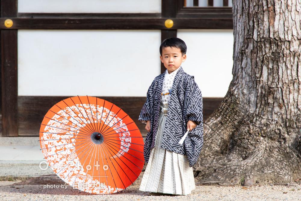 「兄妹の良い思い出ができました」男前な袴姿で七五三写真の撮影