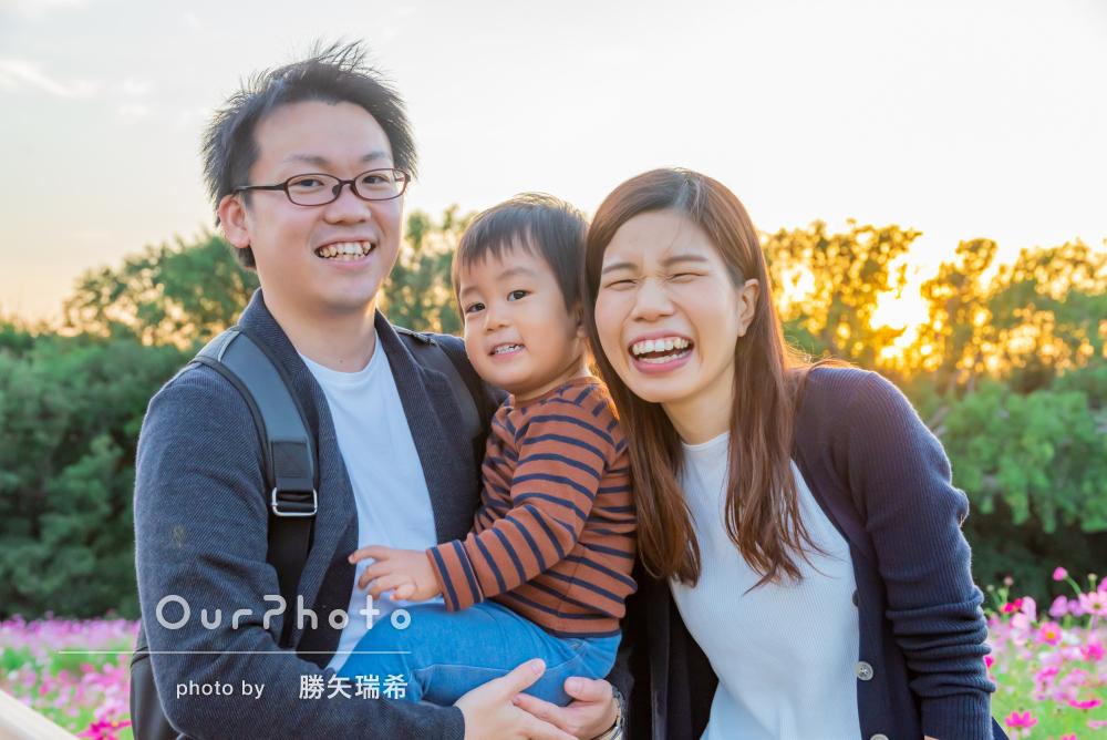 「撮影というより楽しいお出かけに」2歳のお誕生日に家族写真の撮影