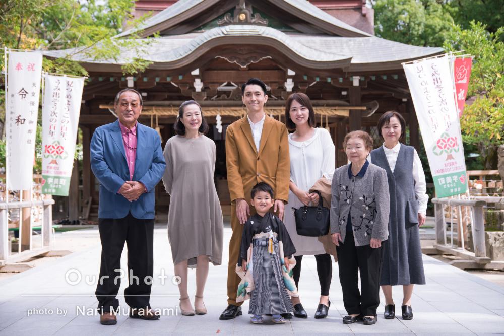 「息子の自然な表情を」家族の温もりと愛を感じる七五三の写真撮影