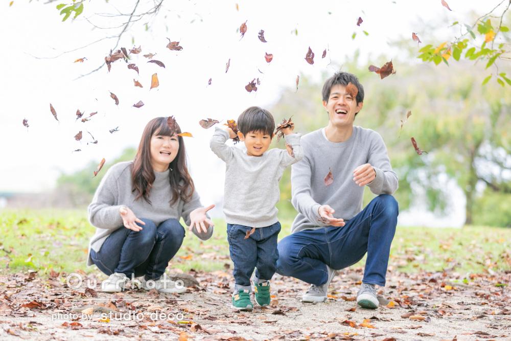 誕生日おめでとう!家族団らんでゆっくりした時間を過ごす家族写真の撮影
