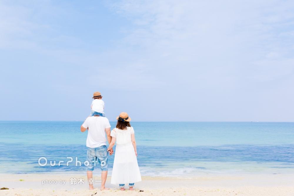 「とてもいい思い出になりました!また沖縄に来たときは、家族4人でまたぜひ撮っていただきたいです!!」旅行先で、家族写真の撮影