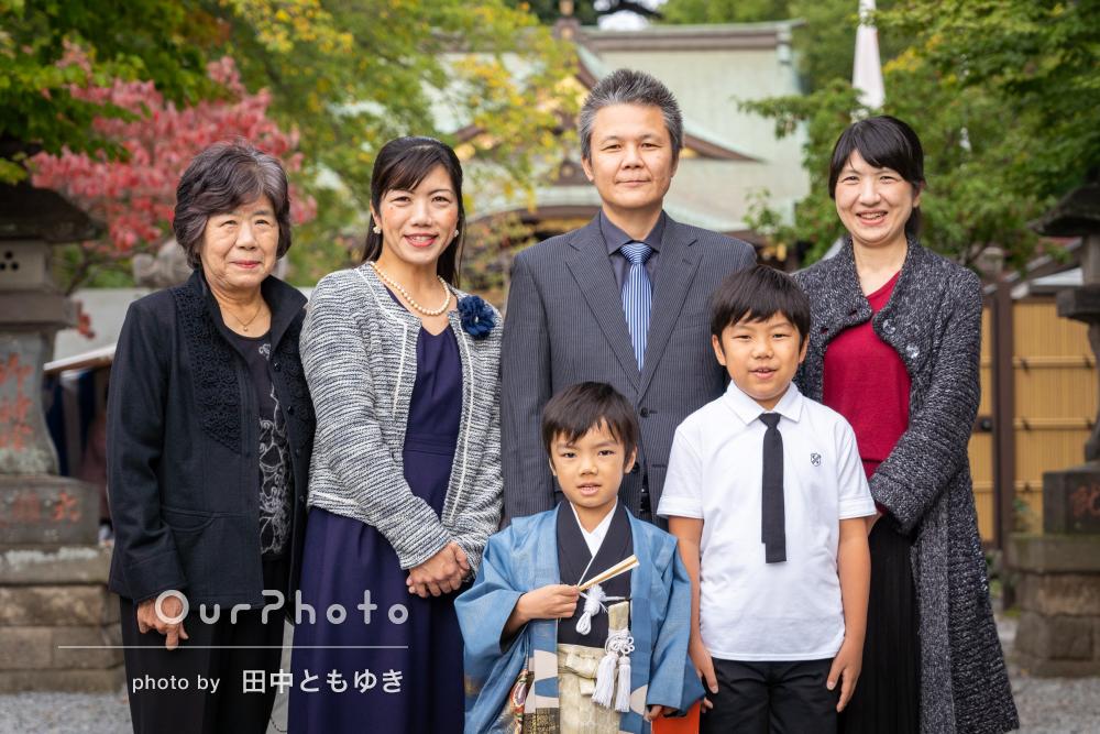 「家族全員気持ち良く撮影」自然な姿を写した5歳の七五三詣り