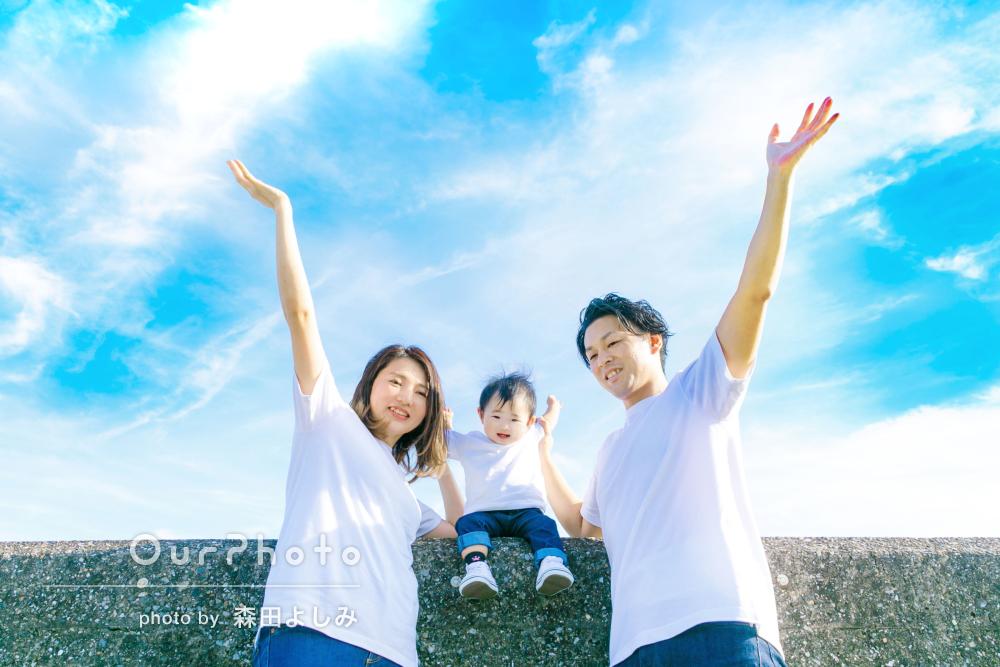 「仕上がりもとてもキレイでイメージ通りで大満足です!」家族写真の撮影