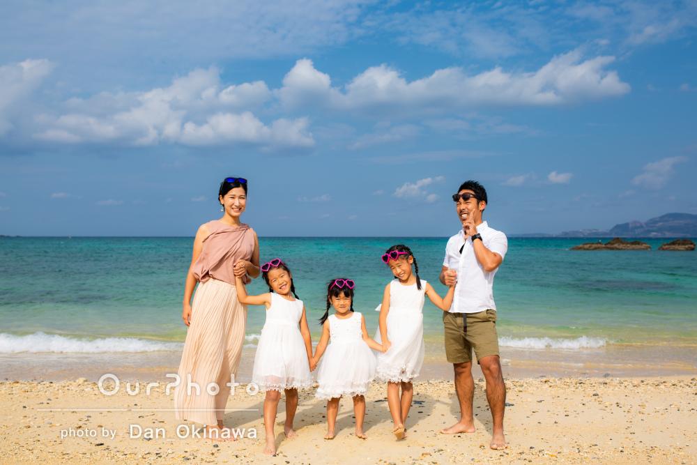 「とても楽しい撮影でした!」沖縄でとっても仲良しな家族の写真撮影