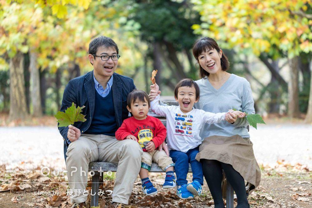 「柔軟に対応していただき感謝」紅葉で秋らしい家族写真の撮影