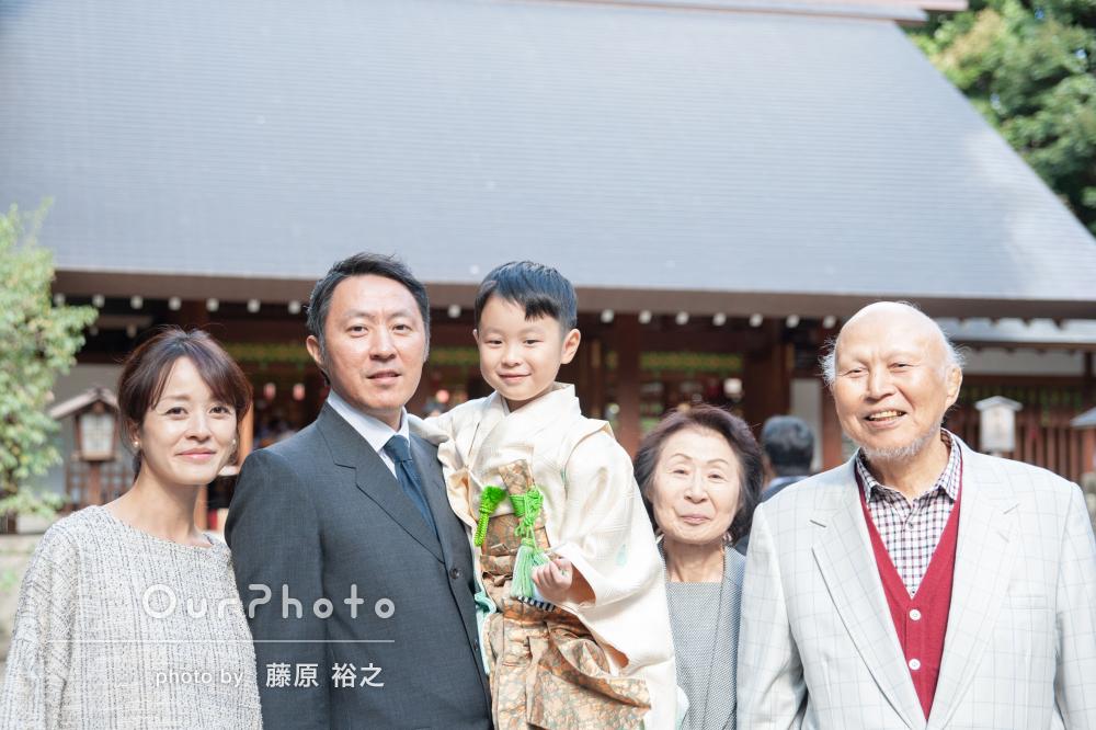 「自由気ままな家族に柔軟にご対応いただき和やかな時間」七五三の撮影