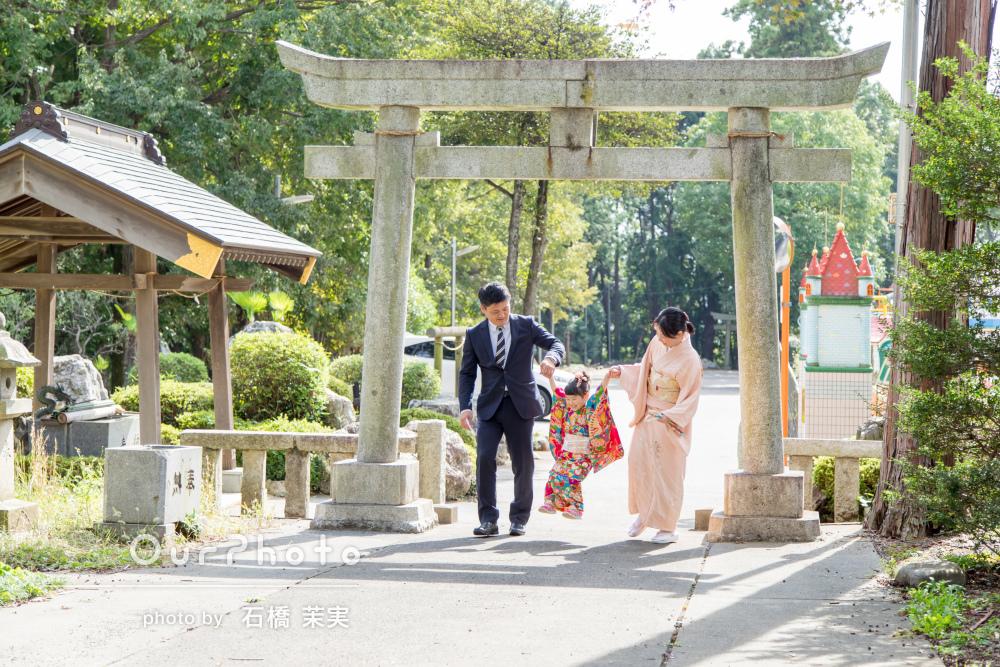 家族の優しさをたくさん記録した心温まる七五三詣りの撮影