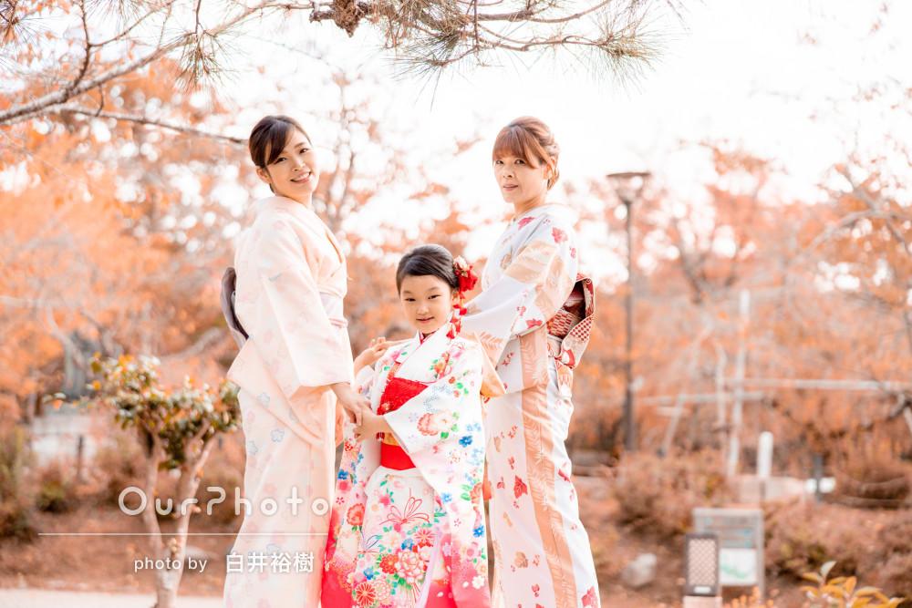 「素敵な写真で大満足」3世代の着物美人が美の共演!七五三の撮影